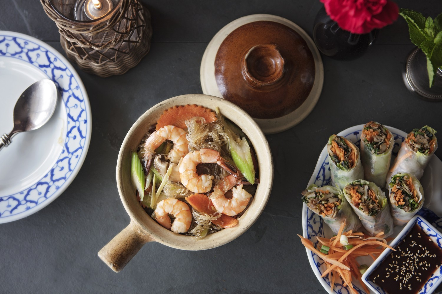 Shrimp-with-Glass-Noodles-Summer-Rolls-with-Roasted-Duck-resized